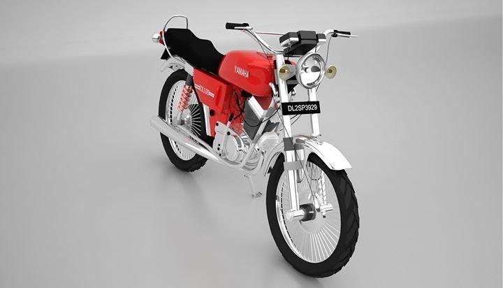 Yamaha rx 100 3D model