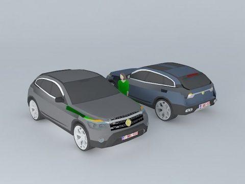 4x4 Car 3D model
