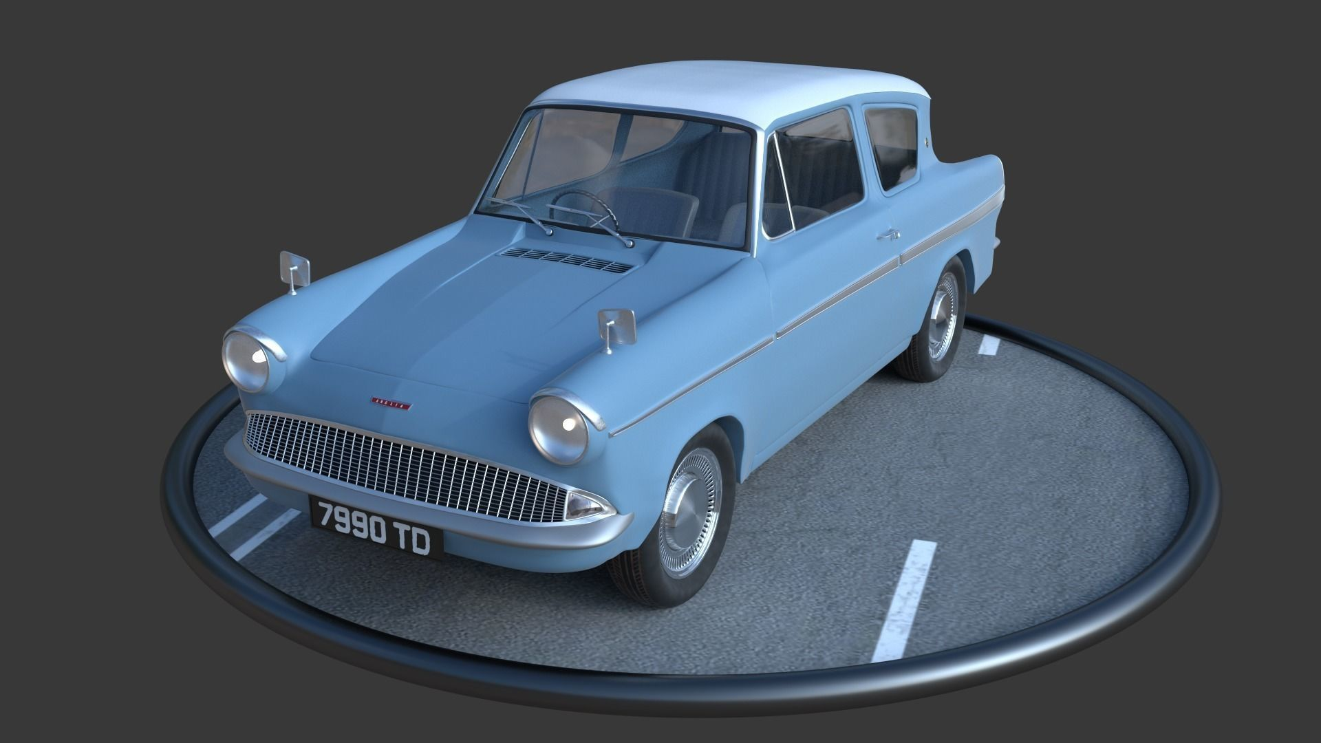 Anglia 105e 3D model