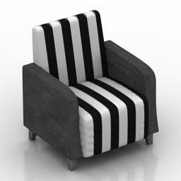 Armchair Barutti 3d model
