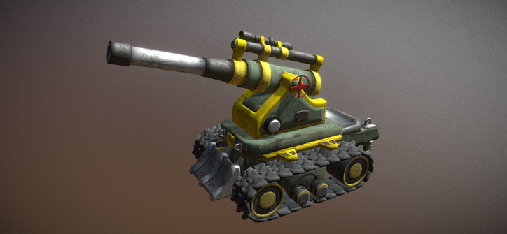 Artillery military weapon 3D model