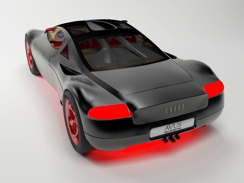 3D Audi Avus Quattro model