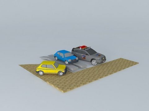 Car 1st and 2nd generation 3D model