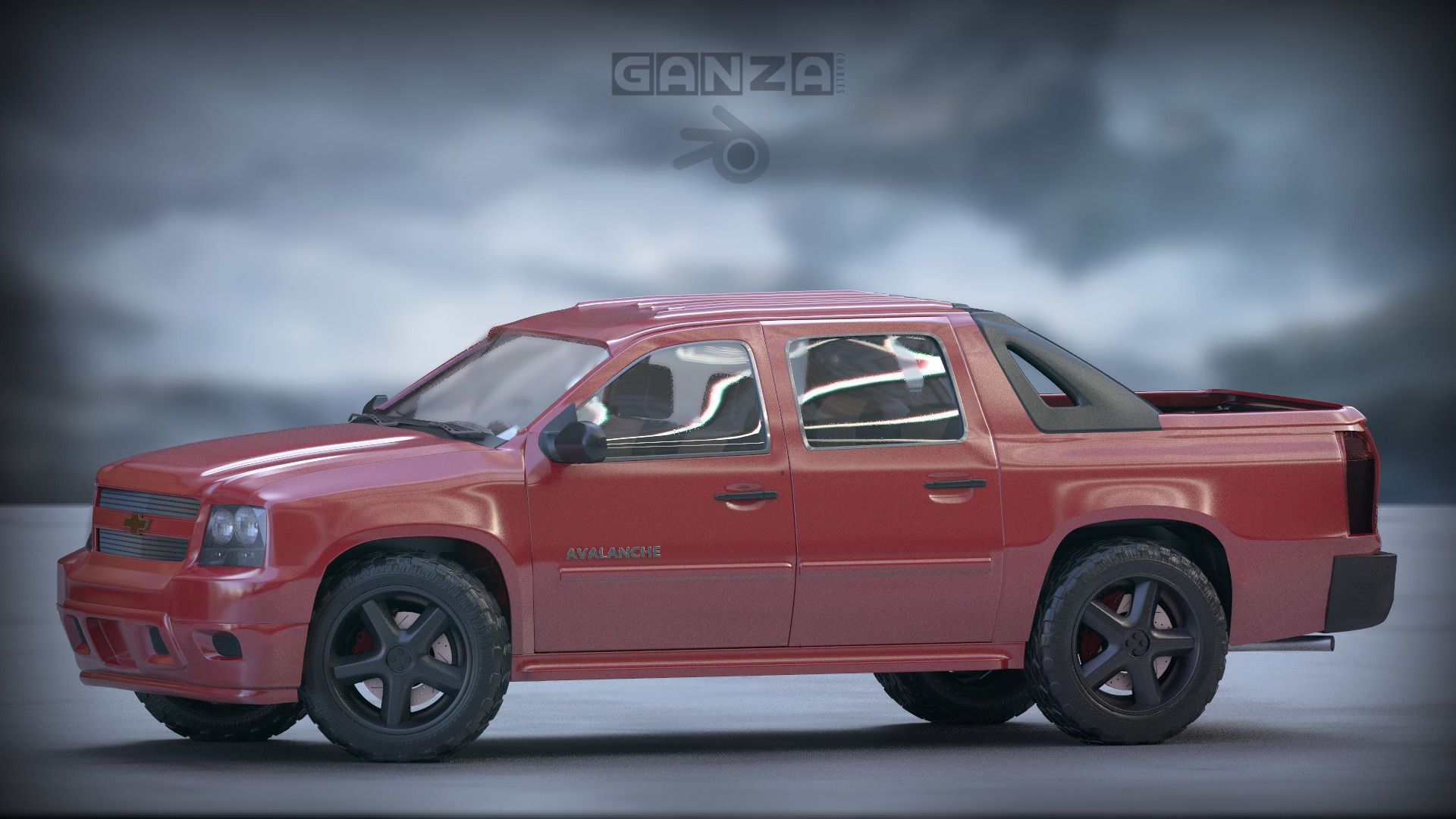 3D Chevrolet Avalanche model