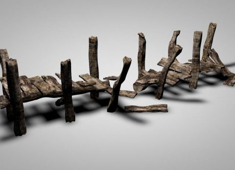 Damaged Old Dock 3D model