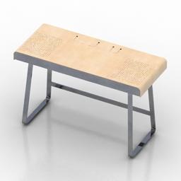 Desk pegasus ClassiCon 3d model