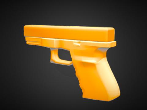GLOCK 19 Dummy toy 3D model
