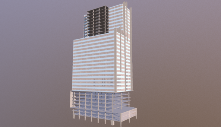 Highrise Construction 3D model