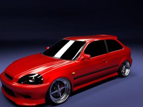 Honda Civic 98 3D model
