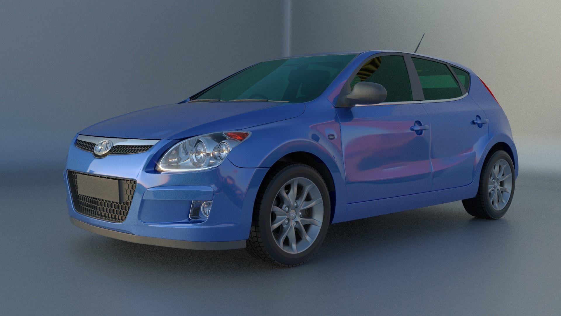 3D Hyundai i30 model