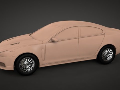 Jaguar XF-R 2011 3D model