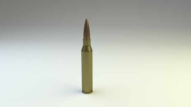Large Caliber Sniper Bullet 3D model