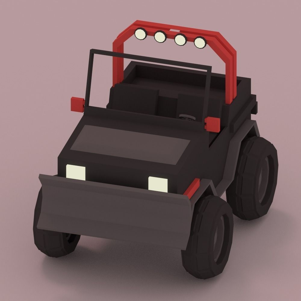 Low-Poly Car | Free 3D models