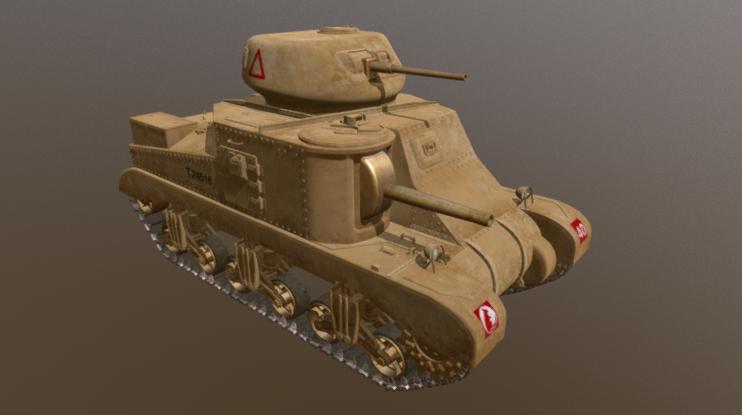 M3 Grant Tank 3D model