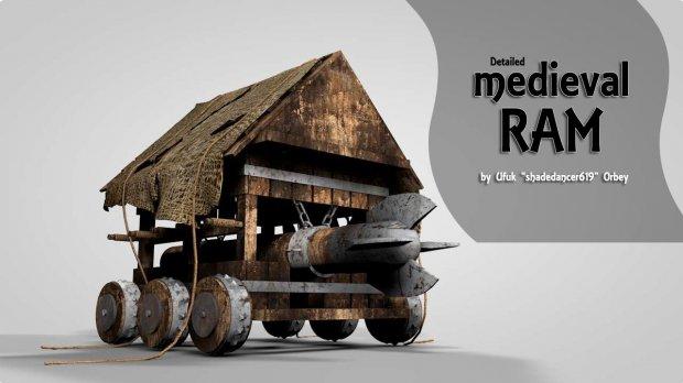 Medieval Ram 3D model