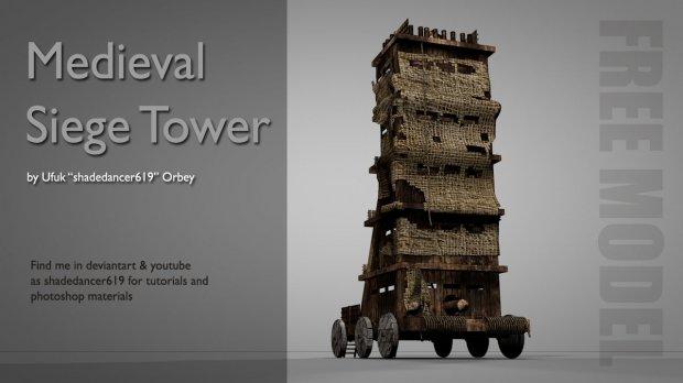 Medieval Siege Tower 3D model