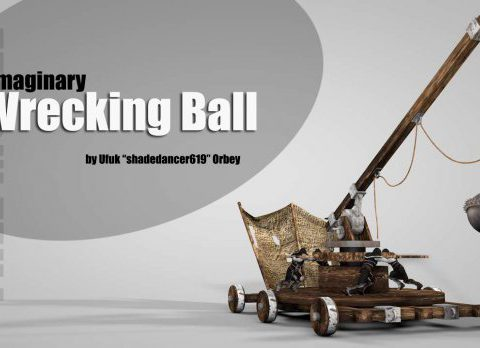 Medieval Wrecking Ball 3D model