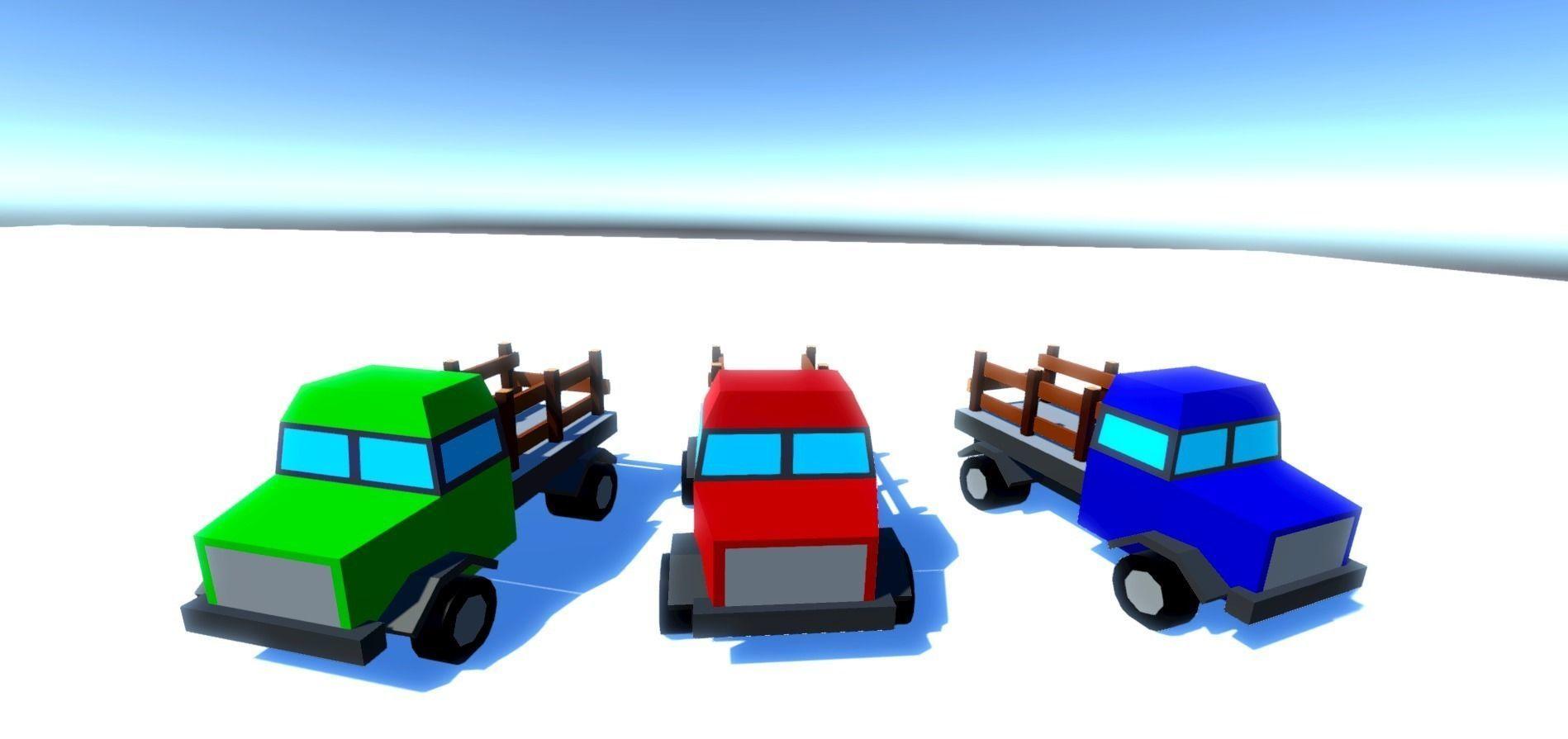 Medium Trucks 3D model