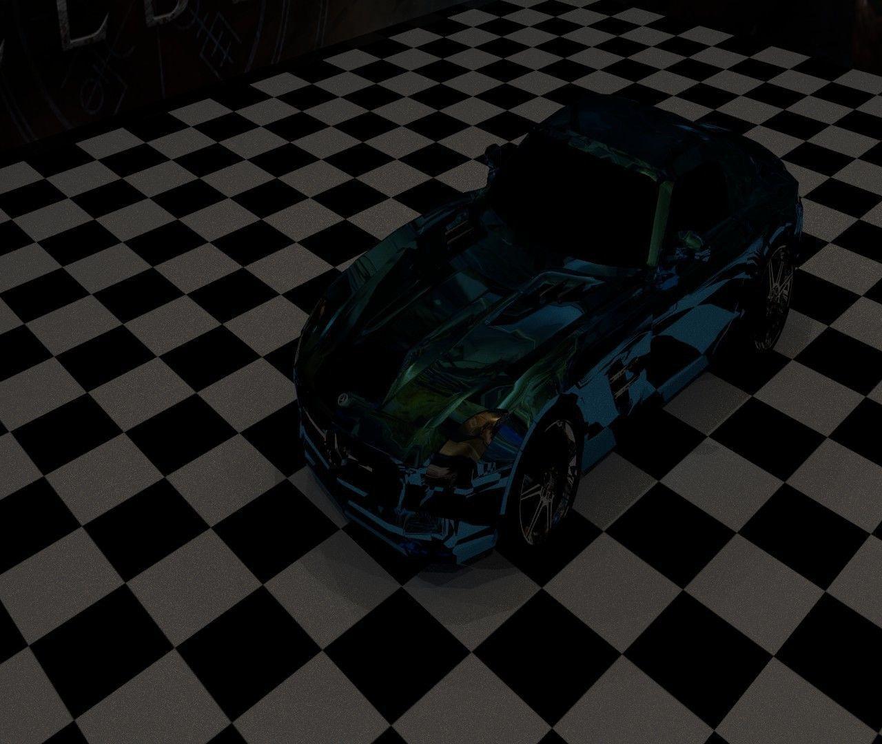 3D Mercedes Benz SLS model