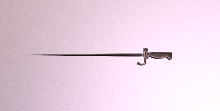 Mle1886 bayonet Rosalie 3D model