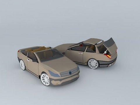 NEG cabriolet car 3D model