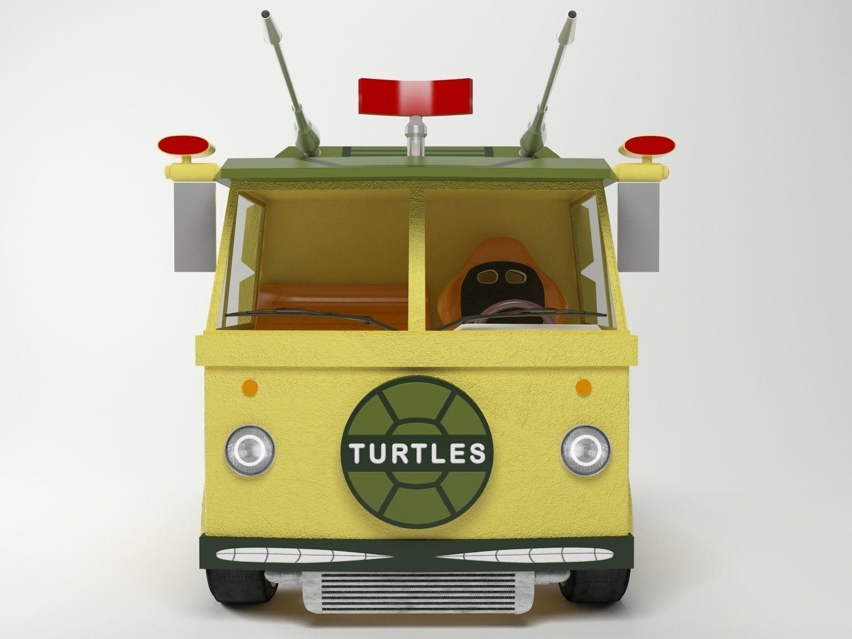 Ninja Turtles Drag Van 3D model