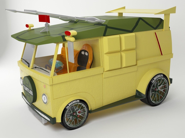 3D Ninja Turtles Drag Van model