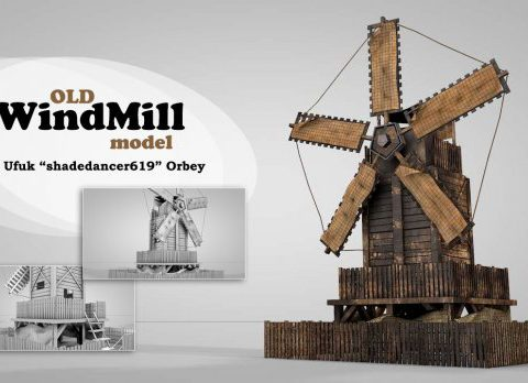 Old Windmill House 3D model