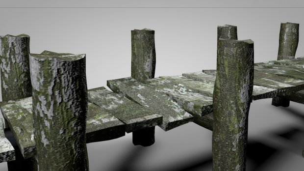 Old Wood Dock Downloadfree3d Com
