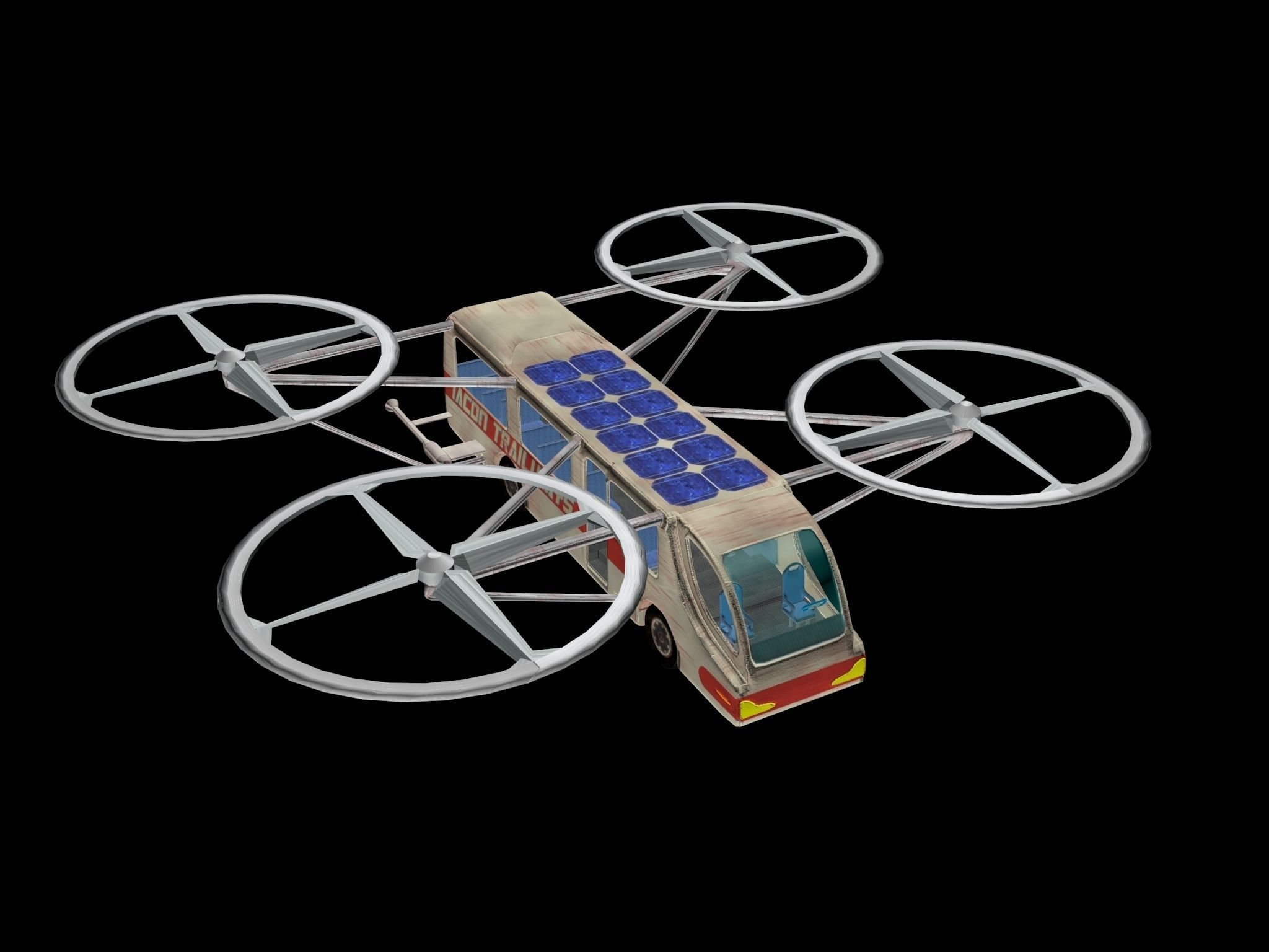 Quadcopter Bus 3D model