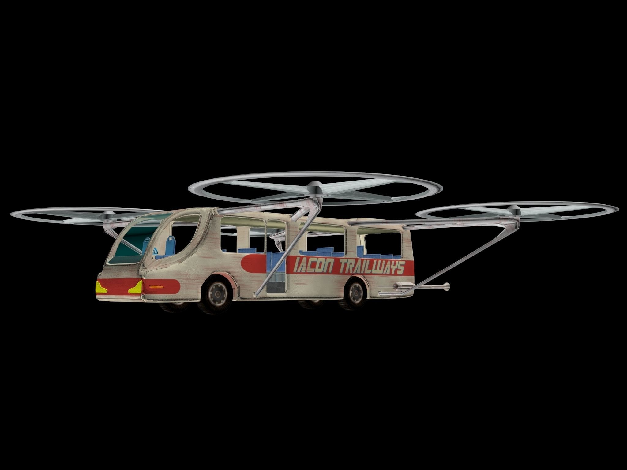 3D Quadcopter Bus model