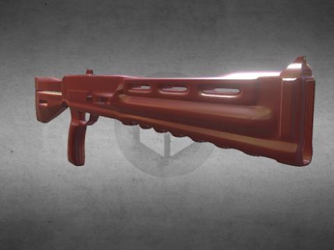 3D Science fiction shotgun model