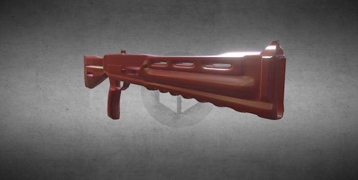 3D Science fiction shotgun model