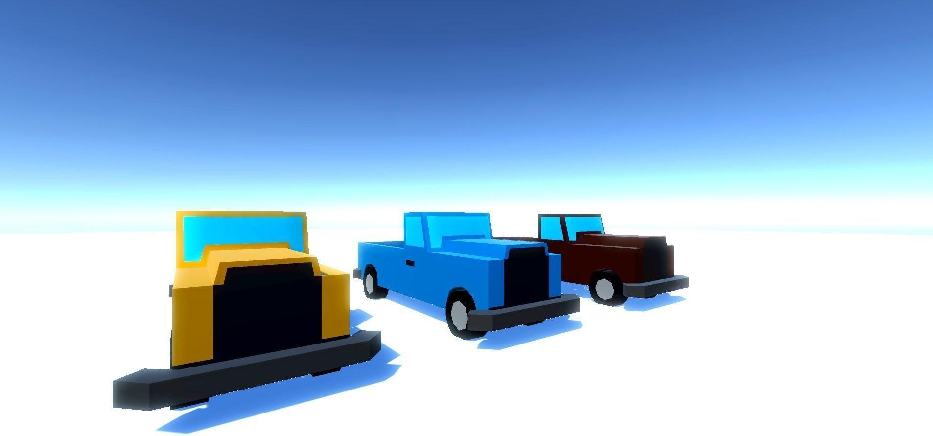 Small Trucks 3D model
