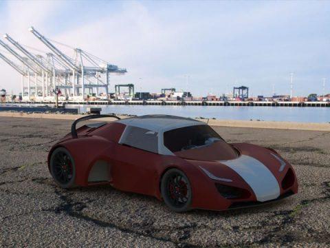 3D Super Car model