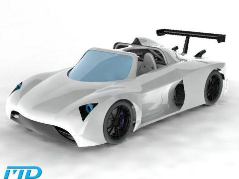 3D Supercar body model