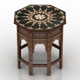 Table islamic 3d model