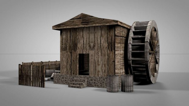 The Mill House 3D model