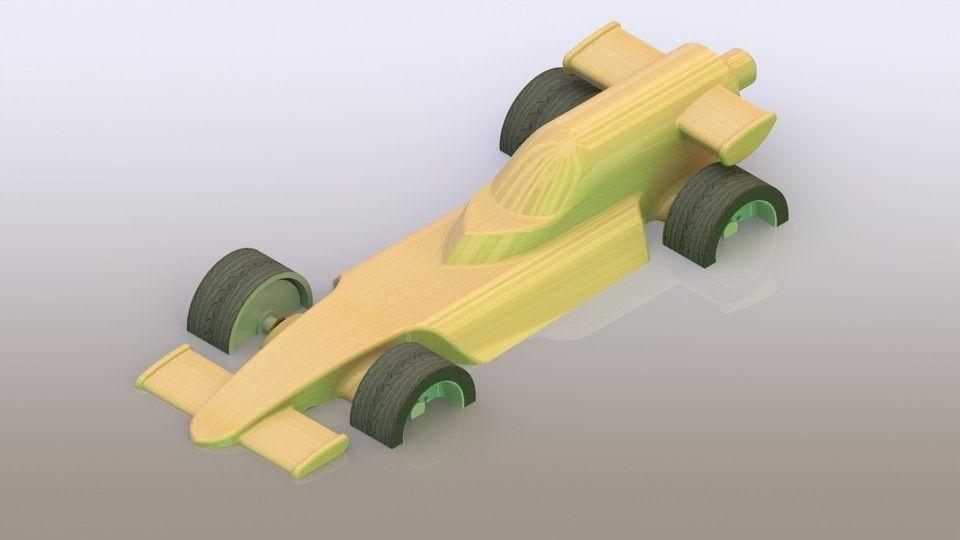 Toy F1 car 3D model