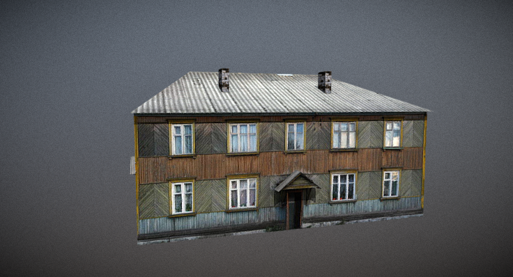 Two-storey house 3D model