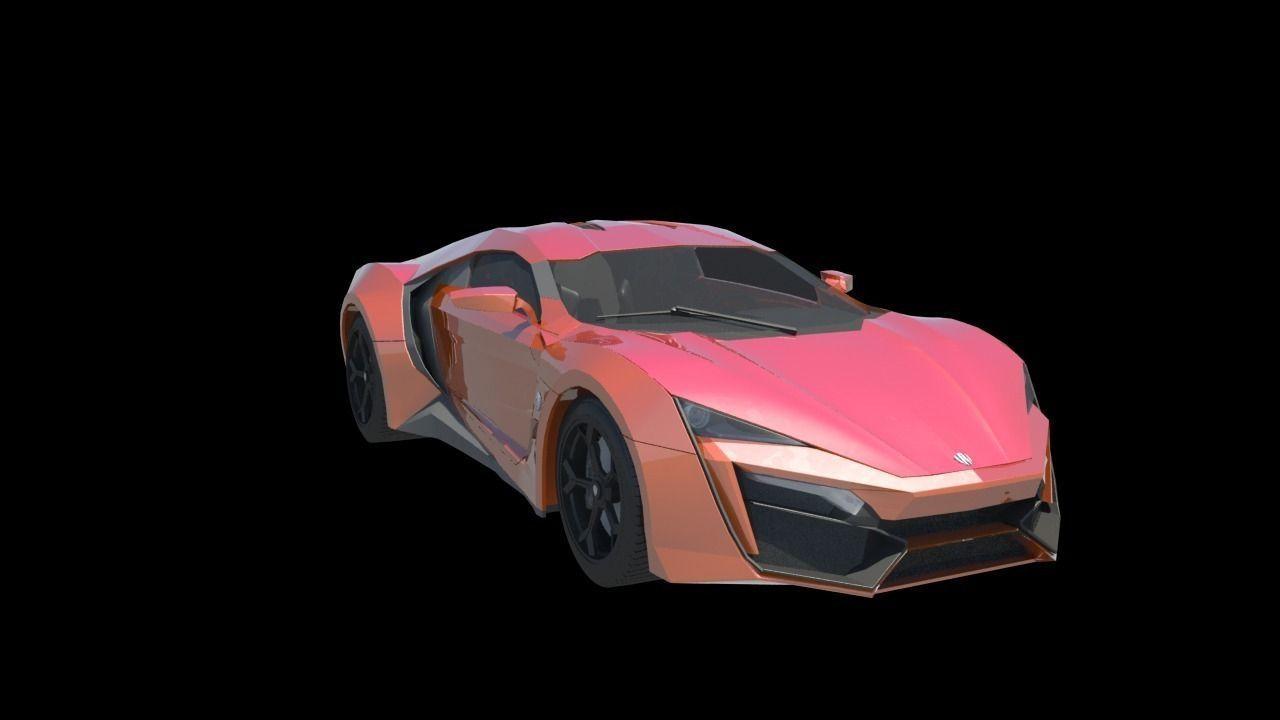 3D W Motors Lykan Hyper Sport model