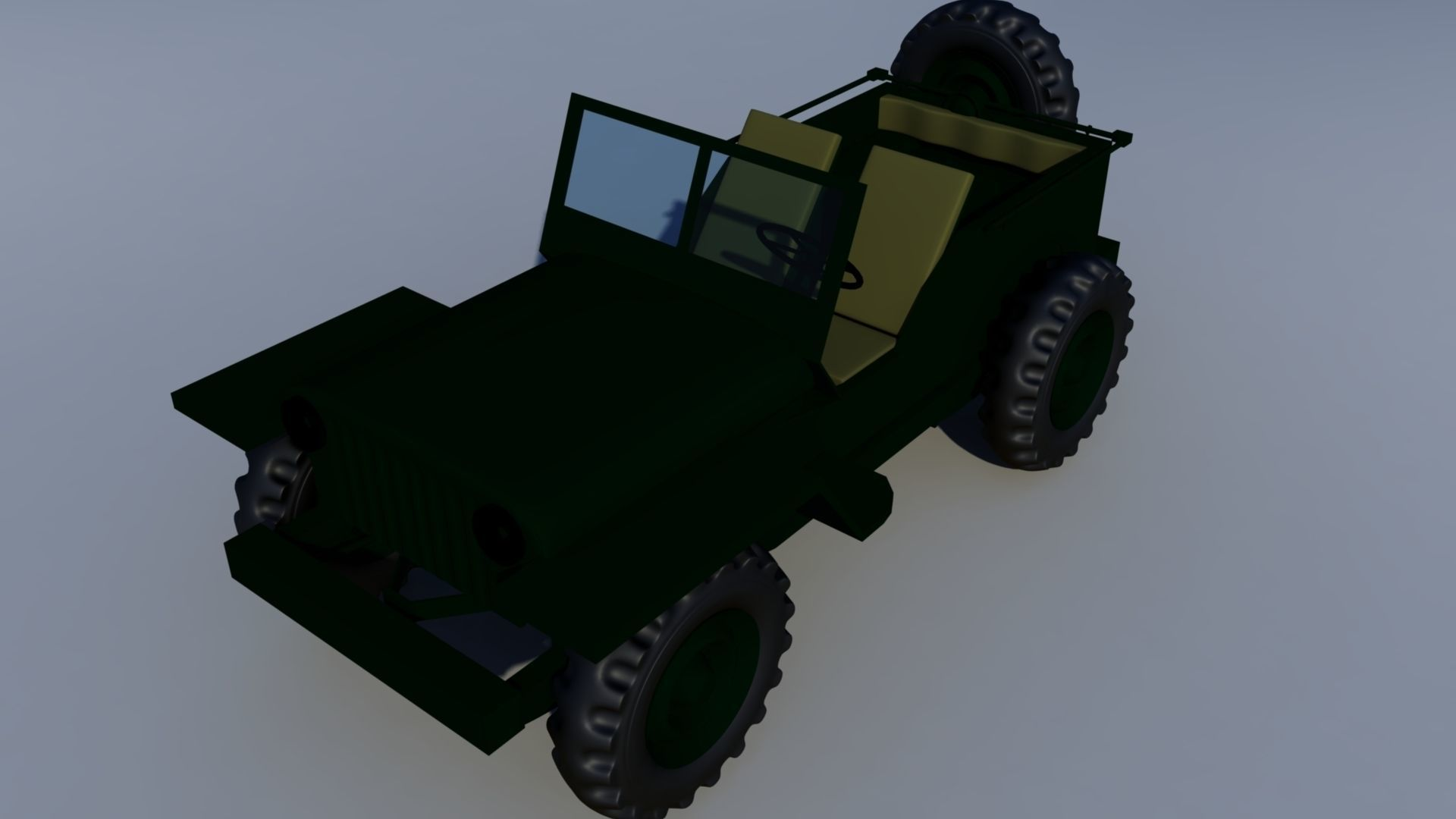Wily Jeep 3D model