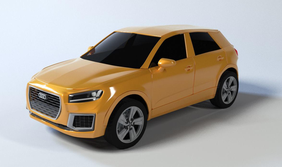 3D Audi q2model
