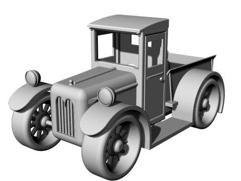 Car toy 3D model