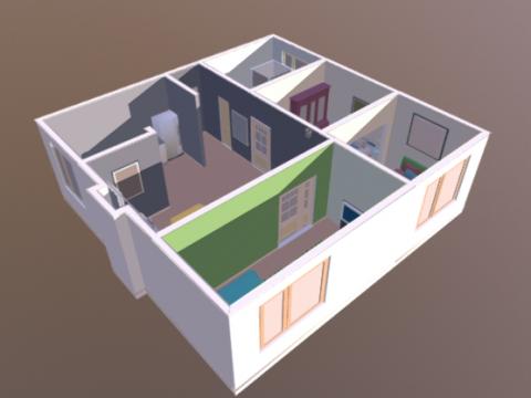3 Bedroom House 3D model