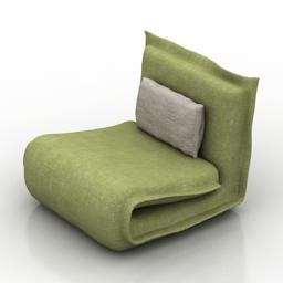 Armchair goa 3d model