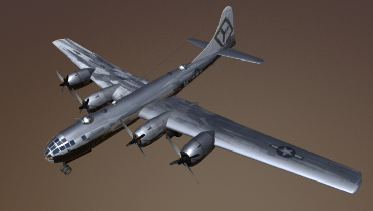 B29 Superfortress 3D model