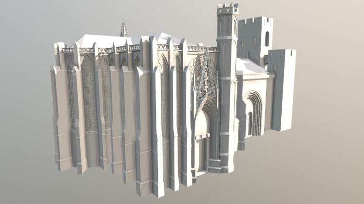 Carcassonne Cathedrale 3D model