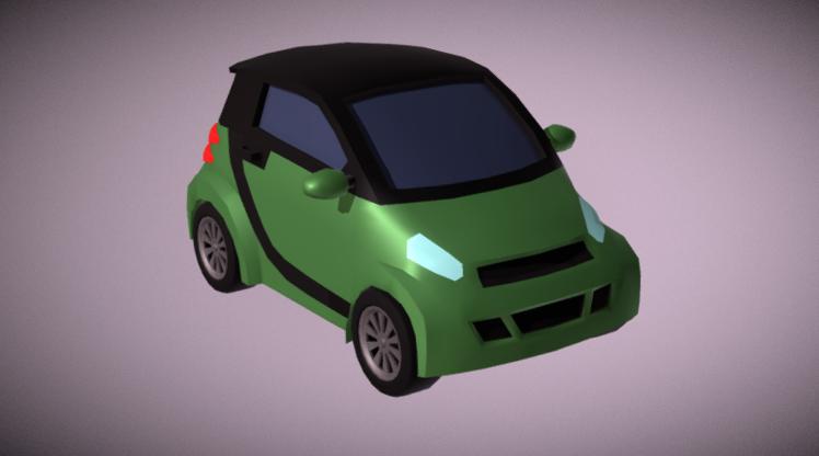 Cute Smart Car 3D model