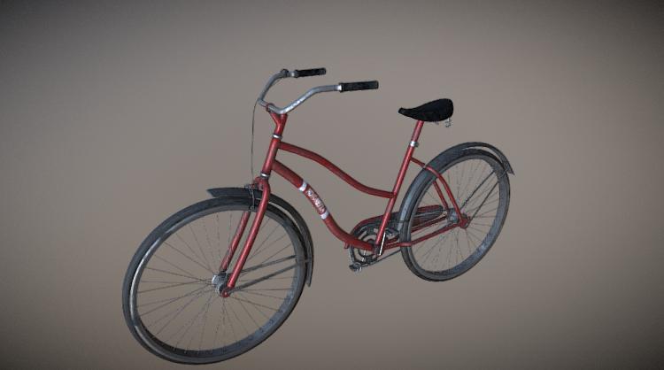 Dirt bicycle 3D model